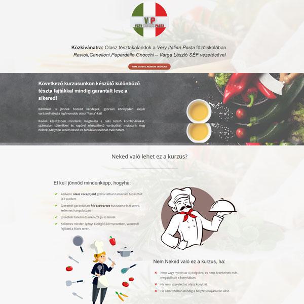 főzőiskola weboldal: Olaszreceptek.hu - Very Italian Pasta főzőiskola