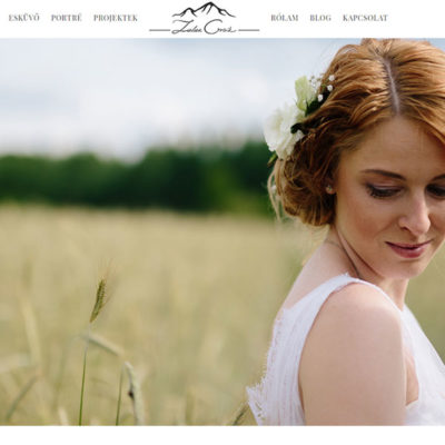 portfólió weboldal: zalanorcsik.hu