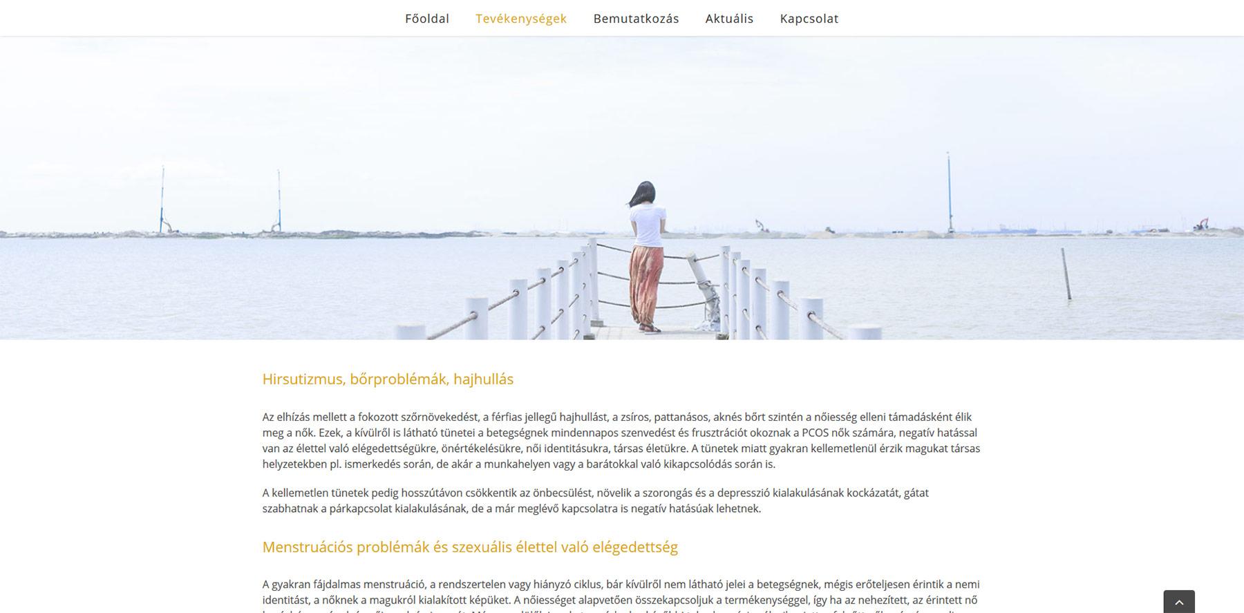 Pszichológiai és dietetikai tanácsadás weboldal: kohlnepappildiko.hu